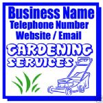 GARDENING BUSINESS MAGNETIC SIGN CAR / VAN 1 PAIR